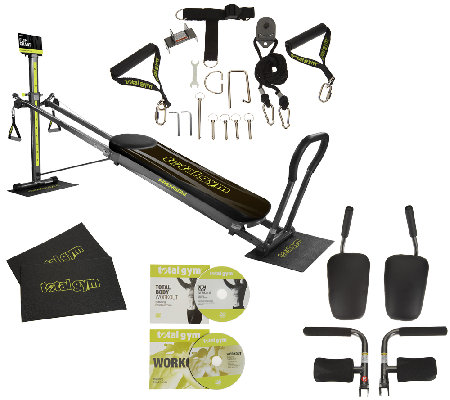 Total Gym Premiere with 10 Attachments 2 Floor Mats and 2 DVDs