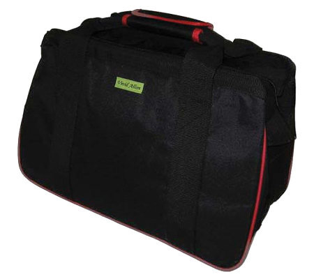 "Janet Basket Black/Red Eco Bag - 18""x10""x12"""