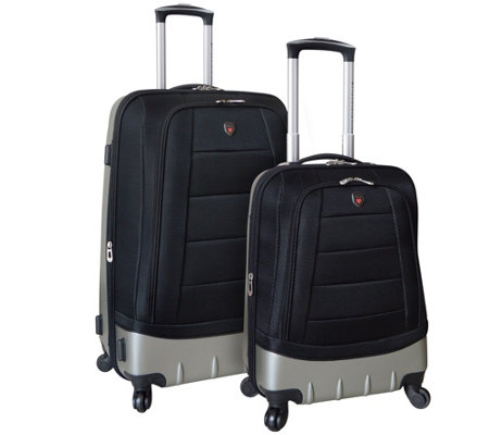 Travelers Club 2-Piece Hybrid Spinner Luggage Set - Valencia