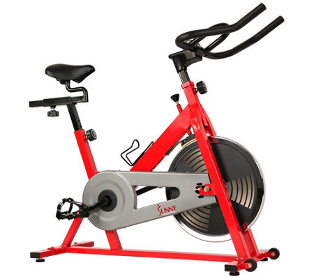Sunny Health & Fitness Red Indoor Cycling Bike