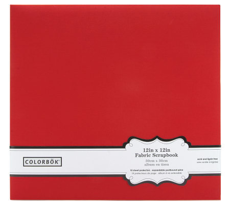 "Colorbok Fabric Album 12"" x 12"" - Red"