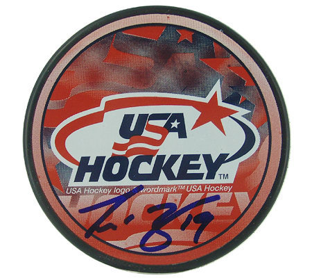 Scott Gomez Signed USA Hockey Puck