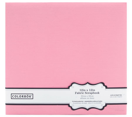 "Colorbok Fabric Album 12"" x 12"" - Light Pink"