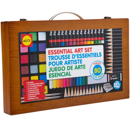 ALEX Toys Artist Studio 80-Piece Art Set w/ Wood Carrying Case