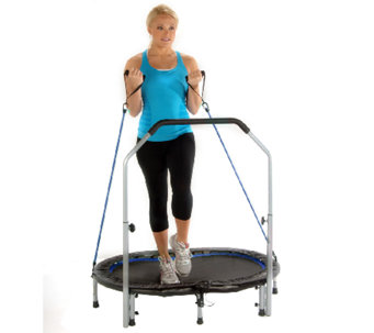 Avari Oval Jogger Trampoline with Resistance Tubes - F246572