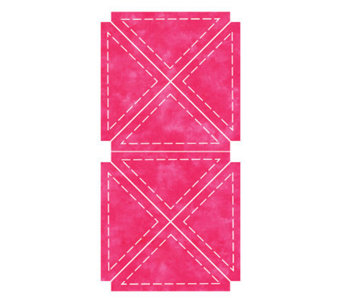 "GO! Fabric Cutting Dies - Quarter Square 4"" Finished Triangle - F246672"