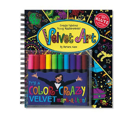 klutz velvet art coloring book from discovery - Velvet Coloring Book