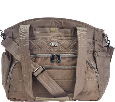 Lug North/South Shopper with Crossbody Strap - Windjammer
