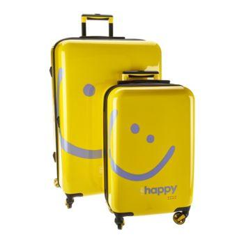 Peace Love World Two-Piece Hardside Luggage Set