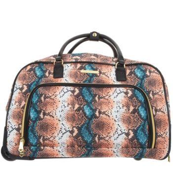 As Is Aimee Kestenberg Wheeled Duffel Bag