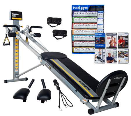 Total Gym FIT w/6 DVD's, Attachments, Training Deck & Wall Chart