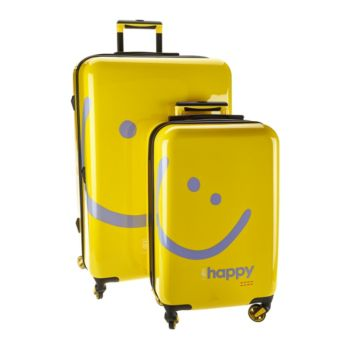 As Is Peace Love World Two-Piece Hardside Luggage Set