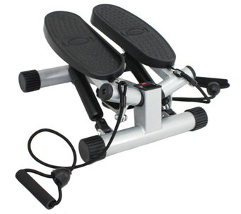 Sunny Health & Fitness Twisting Stair Stepper with Bands - F249178