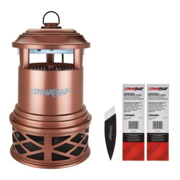 DynaTrap Decora Insect Trap for 1 Acre with 2 Extra Bulbs