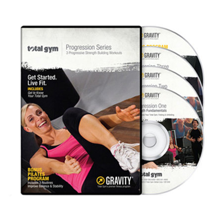 Total Gym Progression Series with 4 DVDs