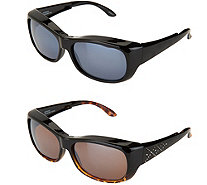 Set of 2 Haven Foldable Fits Over Sunglasses by Foster Grant - F12580
