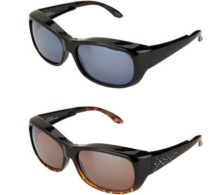 Set of 2 Haven Foldable Fits Over Sunglasses by Foster Grant