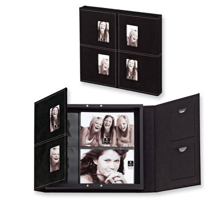 "Black Leather 4"" x 6"" Photo Album"