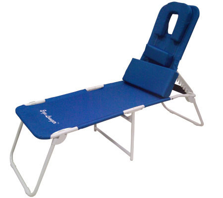 Ergo lounger chaise with 3 adjustable support pillows - Ergonomic lounger ...