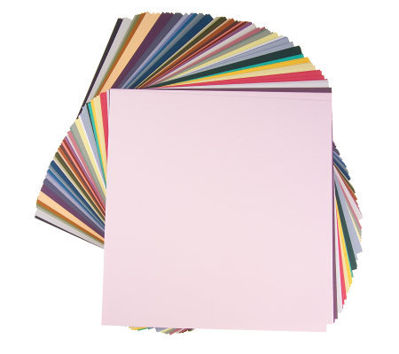 Bazzill 160-piece Assorted Color and Textured Cardstock Pack