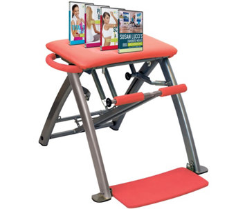 Pilates PRO Chair with 4 DVDs by Life's A Beach - F12082
