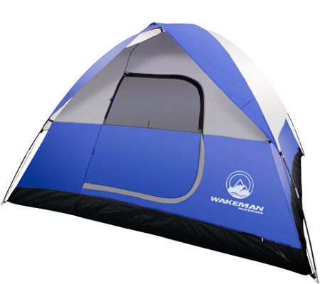 Wakeman Outdoors 6-Person Tent with Rain Fly and Bag