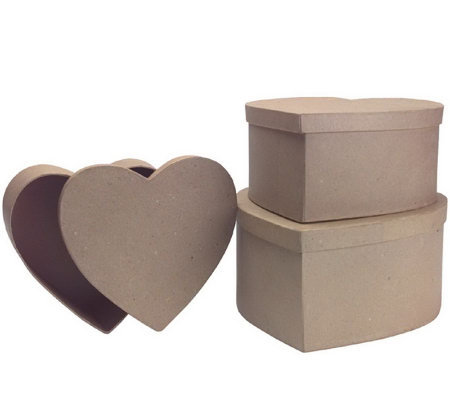 Decorator craft papier mache boxes for Craft paper mache boxes