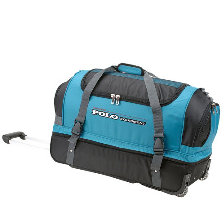 "Rockland 26"" Ballastic Weave Rolling Duffel Bag"