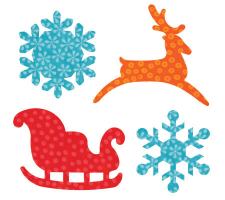 GO! Fabric Cutting Dies It Fits! - Sleigh & Snowflakes