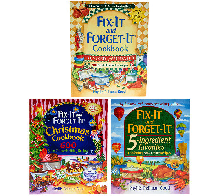 """Fix-It and Forget-It"" 3-Pack Cookbook Gift Set by Phyllis Good"