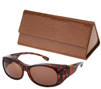 Haven Elegant Animal Print Fits Over Sunglasses by Foster Grant - F11788