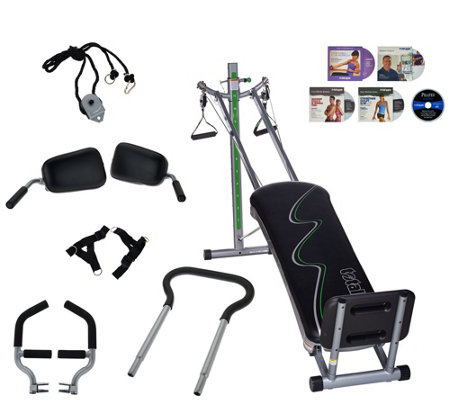 Total Gym 20th Anniversary Supreme with 7 Attachments and 5 DVDs