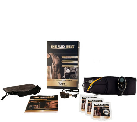 The Flex Belt Abdominal Toning Belt System with Extra Gel Pads