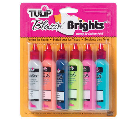 Tulip 3D Fashion Paint 1-1/4 Ounces 6/Pkg