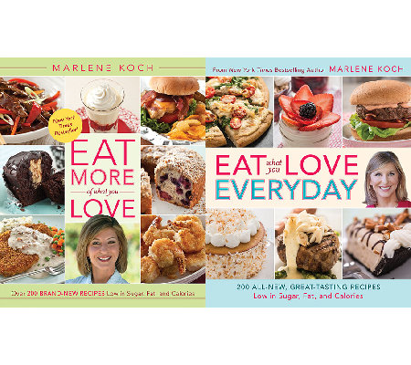 """Eat More & Eat Everyday"" 2 Cookbook Set by Marlene Koch"
