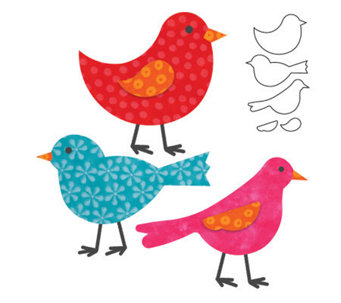 GO! Fabric Cutting Dies It Fits! - Birds - F246690