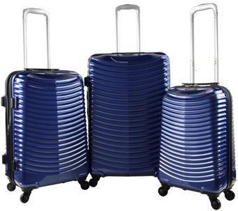 Travelers Club 3-Piece Hardside Expandable Spinner Luggage Se - F249390