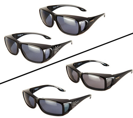 PolarShield Set of 2 Fits Over Sunglasses by Foster Grant