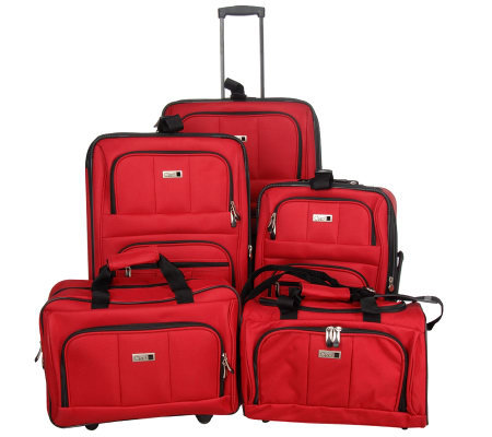 Ciao! 1500 Denier 5-pc. Vertical Expandable Luggage Set