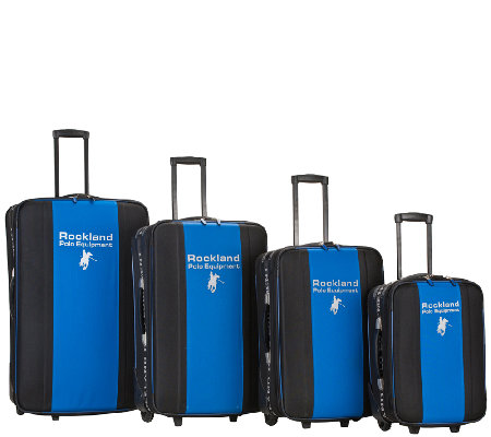 Rockland Polo Equipment 4pc Luggage Set
