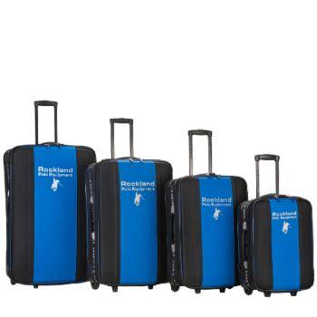 Rockland Polo Equipment 4pc Luggage Set