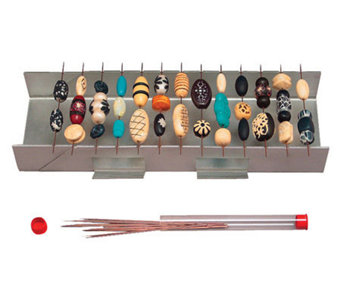 Bead Baking Rack With Bead Piercing Pins - Stainless Steel - F167193