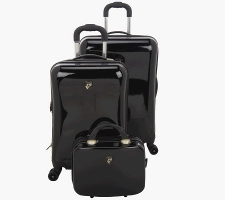 Heys 3-Piece HardsideSpinner Luggage Set w/Packing Cubes