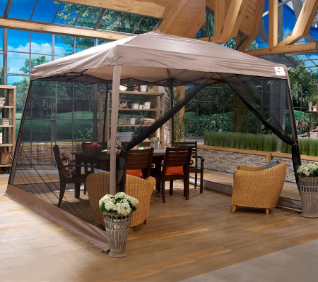Shelterlogic 12x12 Instant 2 In 1 Pop Up Canopy Netting Page 1
