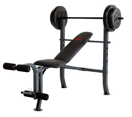 Marcy Standard Bench with 80-lb Weight Set