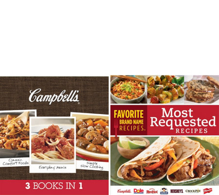"""Campbell's 3 Books in 1"" & ""Most Requested Recipes"" (2) Book Set"