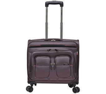 "Travelers Club 17"" Flex-File Rolling Spinner Briefcase - F249396"