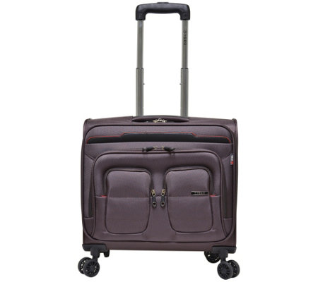 "Travelers Club 17"" Flex-File Rolling Spinner Briefcase"