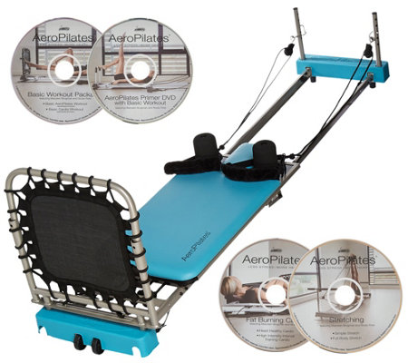 Aeropilates 4-Cord Reformer Plus w/ 4 DVDs and Rebounder