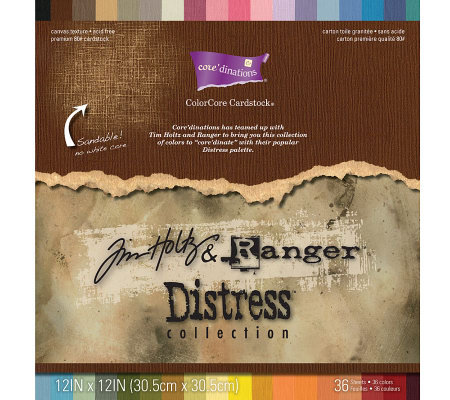 "Core'dinations 12""x12"" Tim Holtz Distressed Cardstock Sheets"